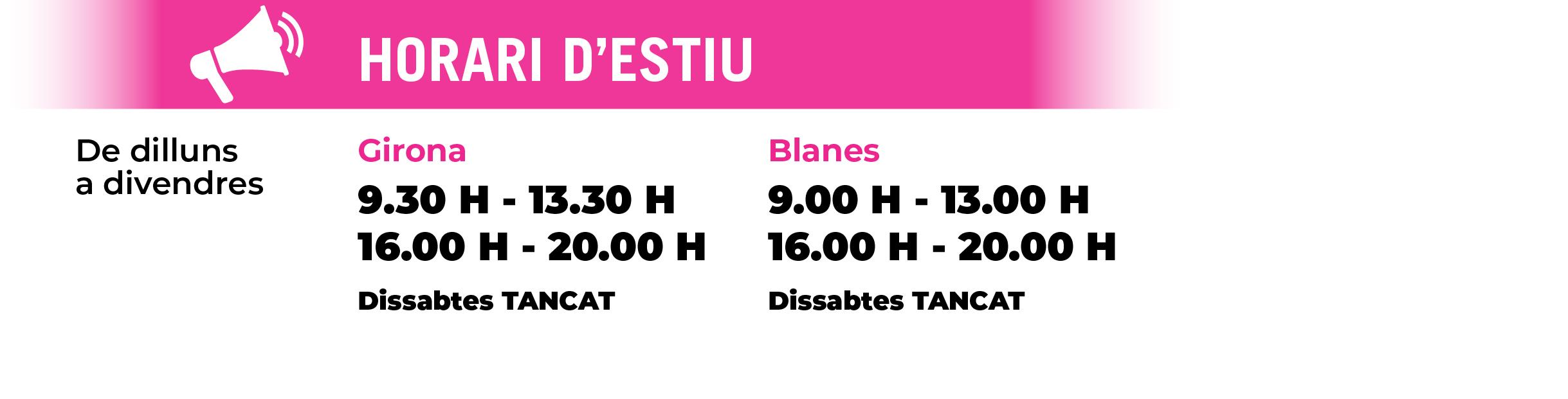 Horaris comercials a Girona i Blanes