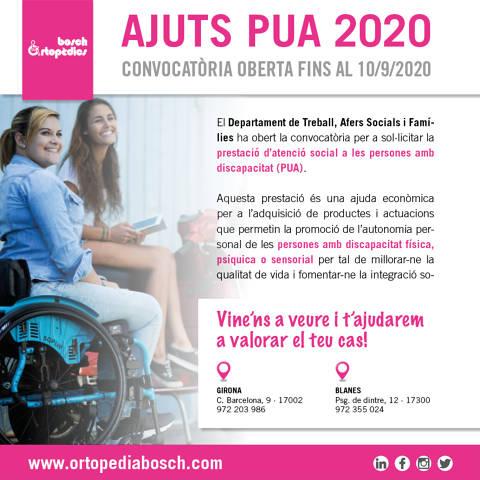 Convocatòria oberta per als ajuts PUA 2020